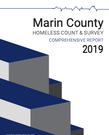 Image of the cover of the 2019 Marin Point In Time Count Report