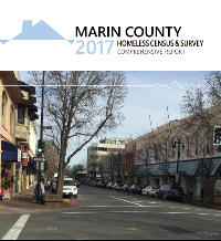 Image of the cover of the 2017 Marin Point In Time Count Reports